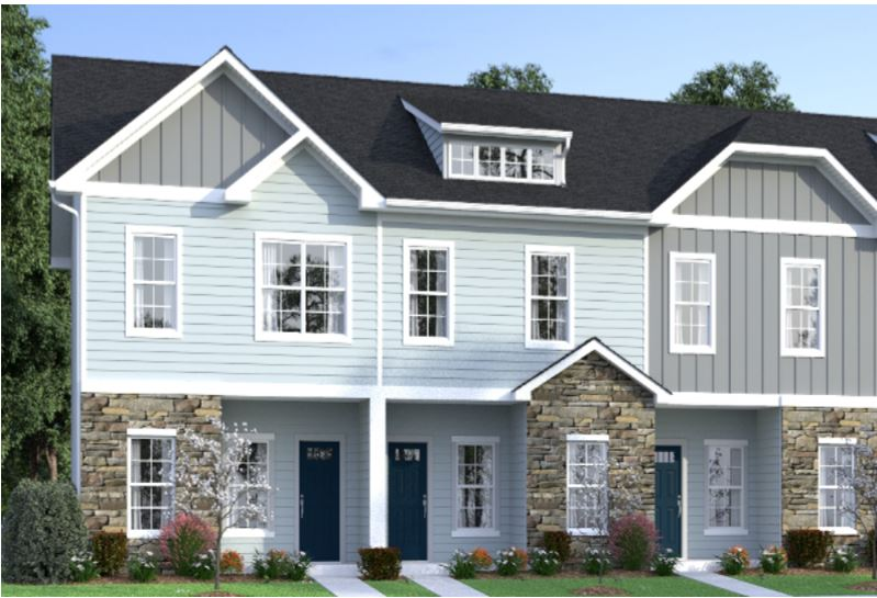 Simpsonville, South Carolina 52 Finished Build-For-Rent Townhomes